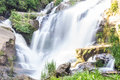 Mae Klang Waterfall in Chiang Mai Province, Doi Inthanon Thailand Royalty Free Stock Photo
