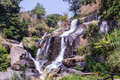 Mae Klang Waterfall in Doi Inthanon, Chiang Mai Province Thailand Royalty Free Stock Photo