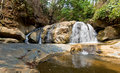 Mae sa waterfall chiangmai in summer area of on doi su thep mountain at thailand Stock Photos