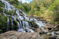 Mae Ya waterfall in Chiang Mai, Thailand Royalty Free Stock Photo