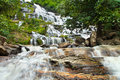 Mae Ya waterfall is tourist attraction in Chiang Mai Thailand. Royalty Free Stock Photo