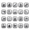 Mafia, Gangster and organized criminality activity icons Royalty Free Stock Photo