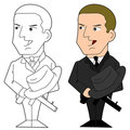 Mafia guy cartoon Royalty Free Stock Photos