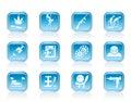 Mafia and organized criminality activity icons vector icon set Royalty Free Stock Photo