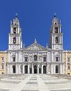 Mafra national palace convent and basilica in portugal francis franciscan religious order baroque architecture Stock Images