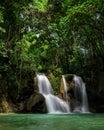 Mag-Aso waterfalls Royalty Free Stock Photo