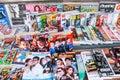 Magazine the many in thailand Stock Image