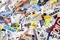Magazine Word Background Royalty Free Stock Photo