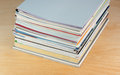 Magazines brochures and on the table Royalty Free Stock Photography