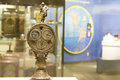 Magellan timepiece columbia pa usa april intricate with ferdinand on top and globe in the background Stock Photo