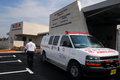 Magen david adom station sderot isr mar ambulans outside sderot on march since june has been officially Stock Photography