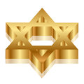 Magen David (estrela de David) Foto de Stock Royalty Free