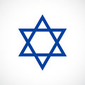 Magen David vector star icon Royalty Free Stock Photo