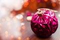 Magenta christmas ball Royalty Free Stock Photo