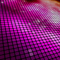 Magenta colored mosaic perspective background Stock Images