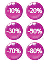 Magenta discount tags Stock Photo