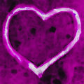 Magenta heart digital painting of a shape on a background Royalty Free Stock Images