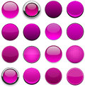 Magenta high-detailed modern web buttons. Royalty Free Stock Image