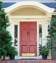 Magenta home door Stock Image