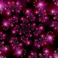 Magenta Pink Fractal Stars in Space Abstract Background Royalty Free Stock Photos