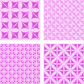 Magenta seamless background set Royalty Free Stock Photo