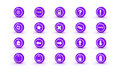 Magenta shiny gloss icons for web design Stock Photography