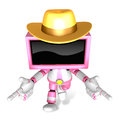Magenta tv character are kindly guidance create d television r robot series Royalty Free Stock Photo