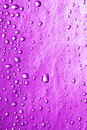 Magenta water drops Stock Images