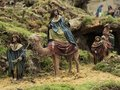 The Magi kings on the way to belen Royalty Free Stock Photo