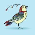 Magic abstract bird Royalty Free Stock Photo