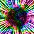 Magic abstract rainbow ball background Royalty Free Stock Photo