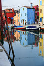 Magic all colored island burano its typical particular houses Royalty Free Stock Photos