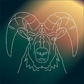 Magic aries  line drawing Royalty Free Stock Photo