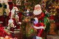 Magic atmoshere in the Christmas shop of Sant`Elpidio a Mare Royalty Free Stock Photo