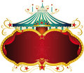 Magic blue baroque circus frame a with a big top and a large copy space for your message Stock Photo