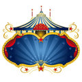Magic blue circus frame Stock Images