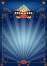 Magic blue circus poster Stock Photography