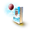 Magic book with real stories Royalty Free Stock Photography