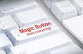 Magic Button on computer keyboard Royalty Free Stock Photos