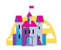 Magic castle, flat style vector illustration