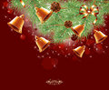 Magic christmas background red illustration decoration Royalty Free Stock Images