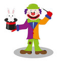 Magic clown vector Royalty Free Stock Photo