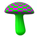 Magic colorful mushroom 3d Royalty Free Stock Photo