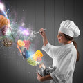 Magic in cooking Royalty Free Stock Photo
