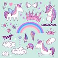 Magic cute unicorn