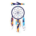 Magic dream catcher indian illustration Stock Images