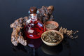 Magic elixir, herbs Royalty Free Stock Photo