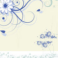 Magic flower background. vector Royalty Free Stock Photo