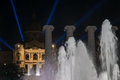 Magic fountain of montjuic night shot from the Stock Images