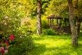 Image : Magic garden  waterfall spring